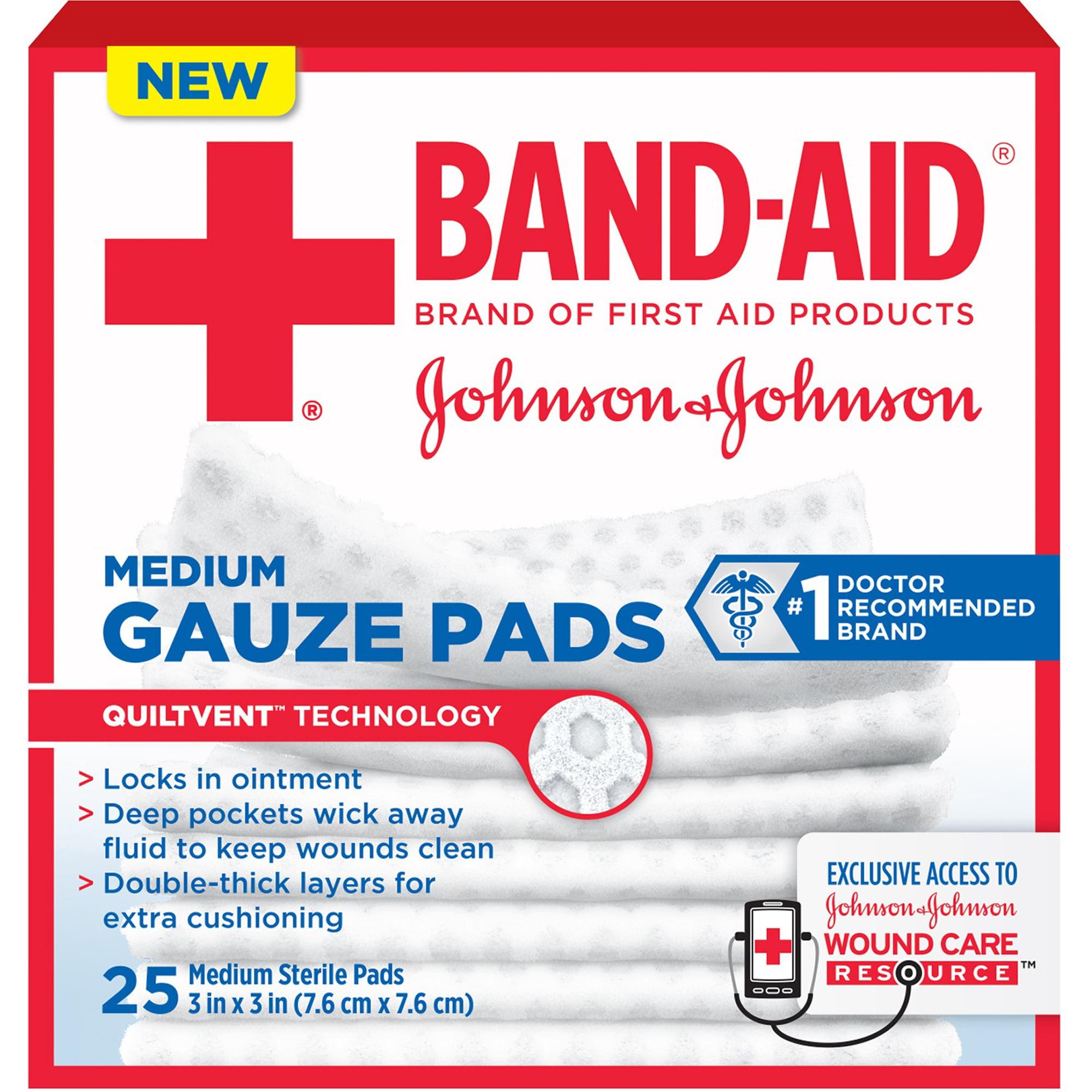 Band-Aid Gauze Pads, Medium, 25 count