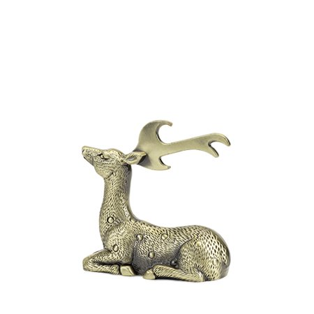 Rustic Holiday: Gilded Deer Bottle Opener by Twine (Holiday Opener)
