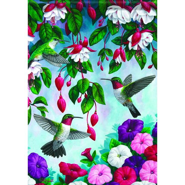 Home Accents Flagtrends Classic Garden Flag Dancing Hummingbirds Flag Measures 13 X 18 By Carson Walmart Com Walmart Com
