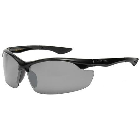 New Mens Stylish Sunglasses Sport Wrap Around BLACK  Driving Eyewear