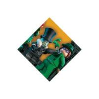 Lego Batman Bev Napkins (16pc) for Birthday - Party Supplies - Licensed Tableware - Licensed Napkins - Birthday - 16 Pieces