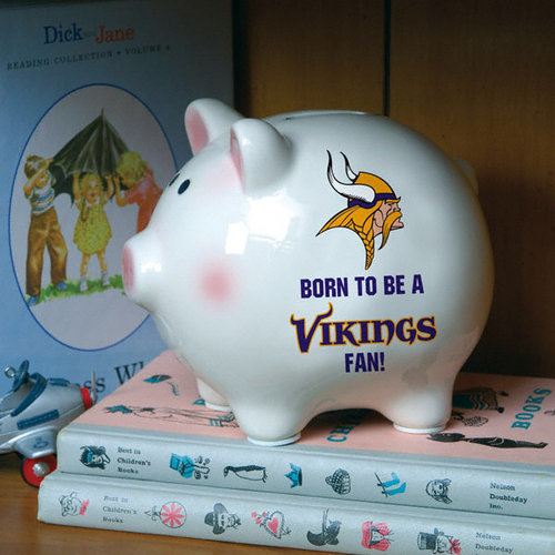 NFL - Born to Be Minnesota Vikings Fan Piggy Bank