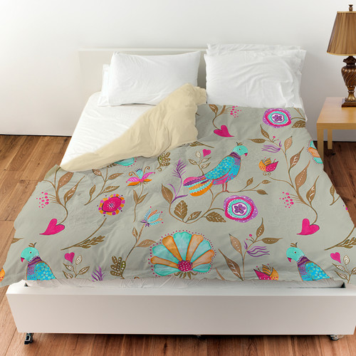 Manual Woodworkers & Weavers Early Bird Duvet Cover