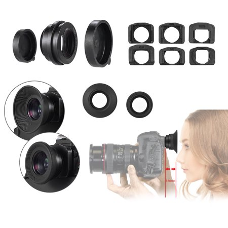 1.51X Fixed Focus Viewfinder Eyepiece Eyecup Magnifier for Canon Nikon Sony Pentax Olympus Fujifilm Samsung Sigma Minoltaz DSLR Camera w/ 2 *