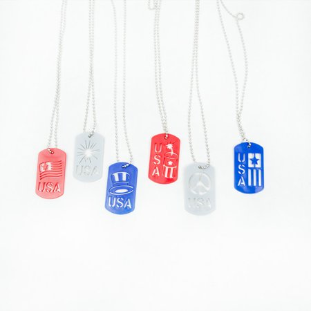 Patriotic Dog Tag Necklaces (Dog Tag Necklaces)
