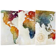 Crystal art 3 piece world map wrapped canvas wall art decor set 19 x crystal art 3 piece world map wrapped canvas wall art decor set 19 x 30 image gumiabroncs Images