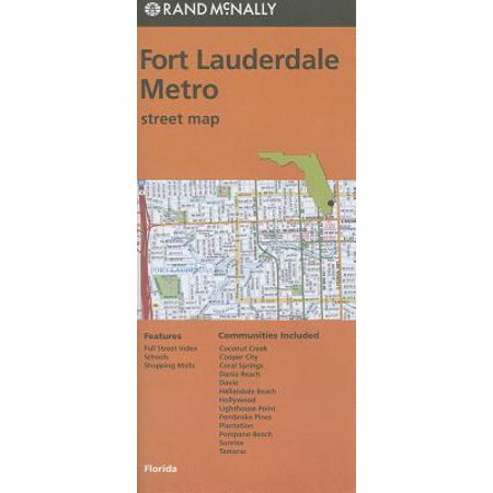 Southwest Florida Map - Rand mcnally fort lauderdale metro, florida street map: 9780528007996