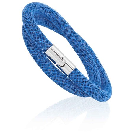 Swarovski Blue Bracelets - Swarovski Stardust Capri Blue Ladies Double Bracelet 5186426
