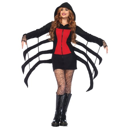 Morris Costumes Women's Spider Widow Cozy Complete Outfit Black L for $<!---->