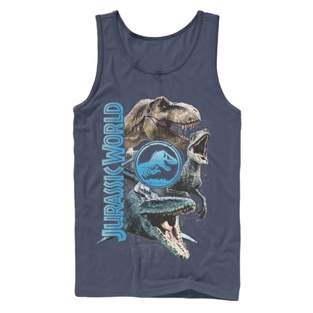 - Jurassic World: Fallen Kingdom Men's Jurassic World Fallen Kingdom Dinosaur Montage Tank Top