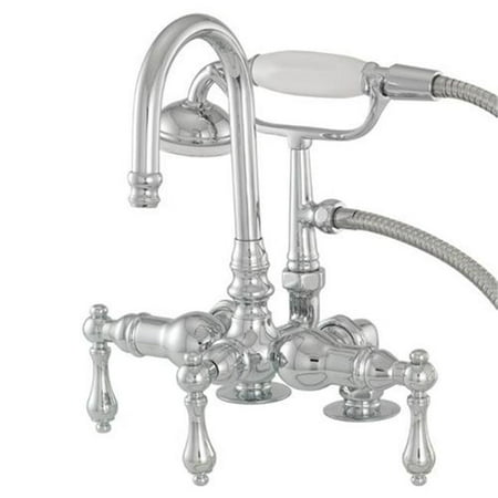 Image of American Bath Factory F200A-CH Deck Mount Bathtub Faucet In Polished Chrome