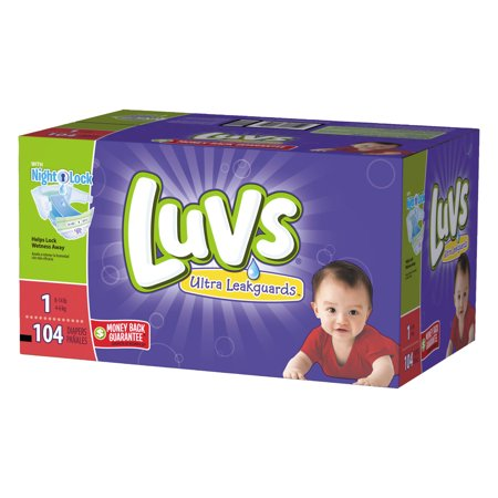 Luvs Ultra Leakguards Newborn Diapers Size 1 104 count