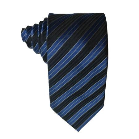James Cavolini Italy Blue Striped Neck Tie Blue Stripe Italian
