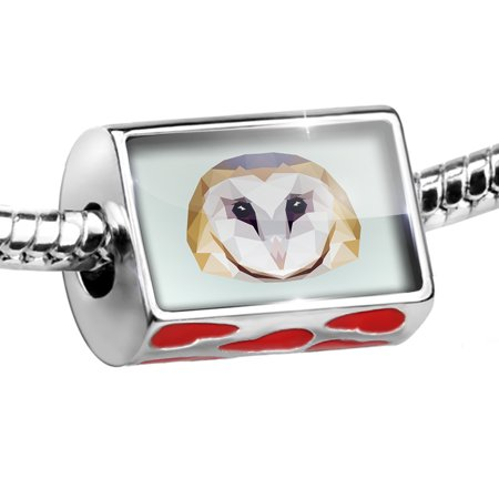 Bead Low Poly Animals Modern design Barn Owl Charm Fits All European Bracelets ()