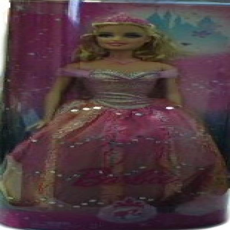 Barbie Princess Doll Orange Pink Dress