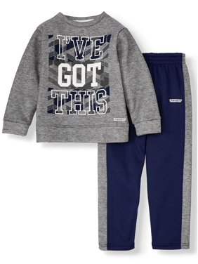 Hind Long Sleeve Graphic Crew Neck with Pull On Pant, 2-Piece Athletic Outfit Set (Big Boys)