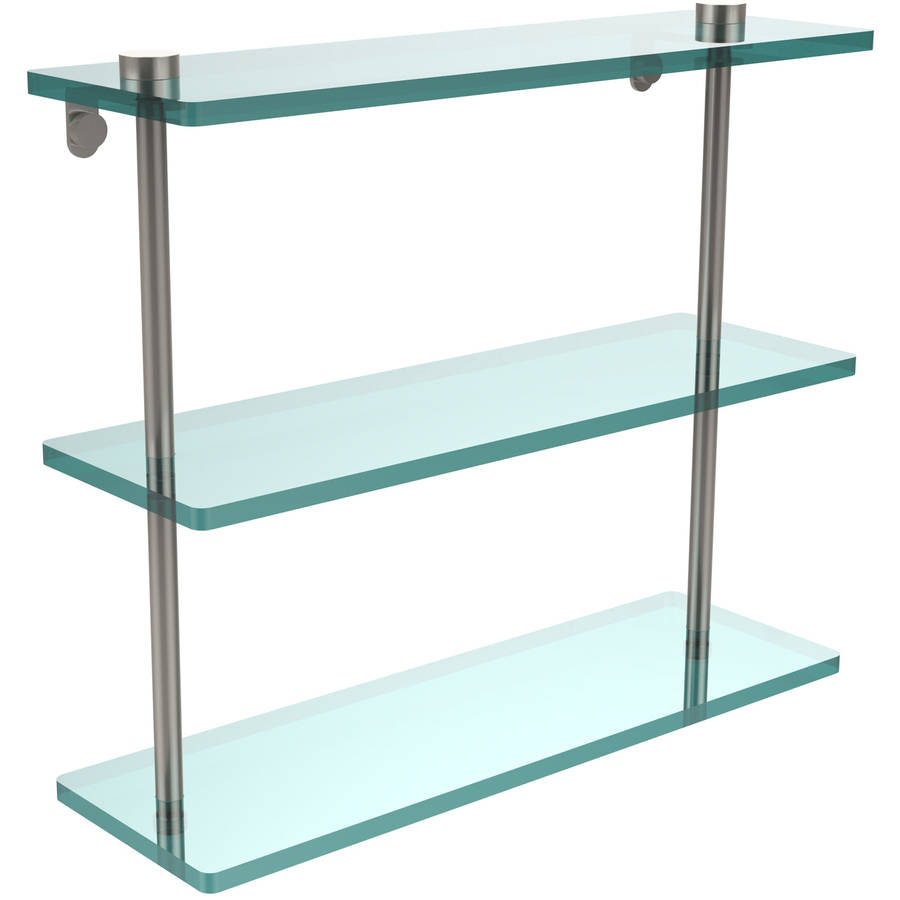 "16"" Triple Tiered Glass Shelf (Build to Order)"