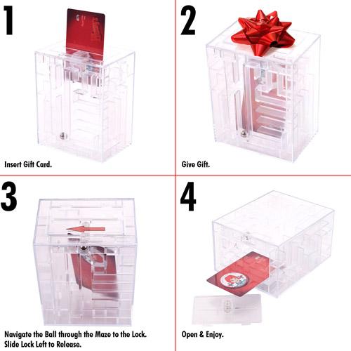 Trademark Maze Brainteaser Puzzle Unlocks Gift Card Compartment