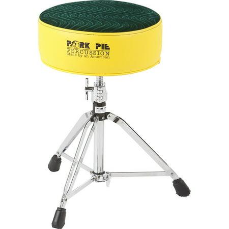 pork pie round drum throne yellow wtih green swirl top. Black Bedroom Furniture Sets. Home Design Ideas