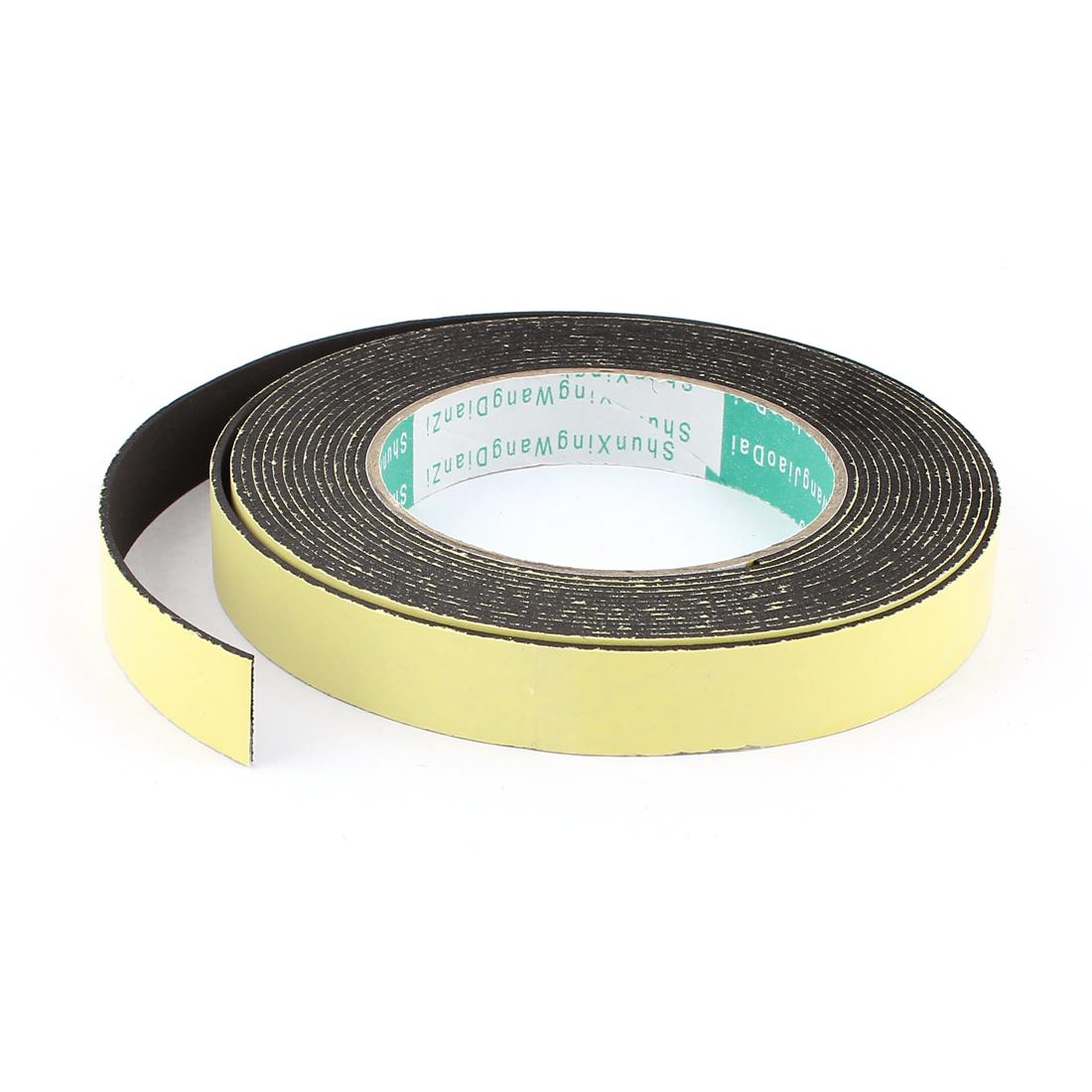 5M 18mm x 1.5mm Single Side Adhesive Foam Sealing Tape for Door Window