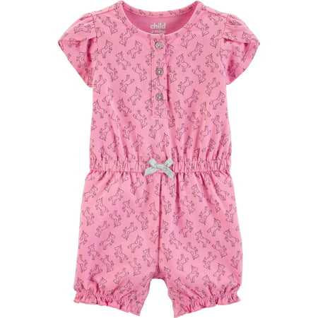 5b4fbb6fa0e9 Child of Mine by Carter s - Short Sleeve Footless Romper