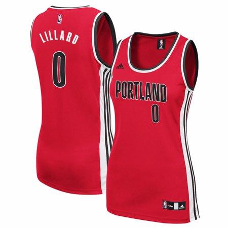 - Damian Lillard Portland Trail Blazers NBA Adidas Red Official Alternate Replica Jersey For Women