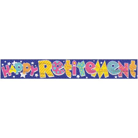 12' Foil Happy Retirement - Happy Retirement Sign