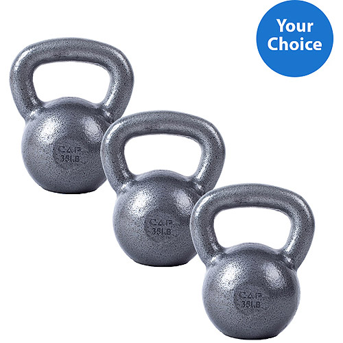 3-Piece CAP Barbell Cast Iron Kettlebell Set, 40lb-50lbs Value Bundle