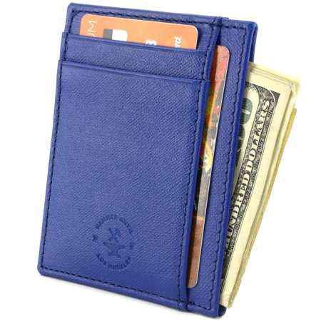 Hammer Anvil Minimalist Front Pocket Wallet RFID Blocking Thin Leather Card