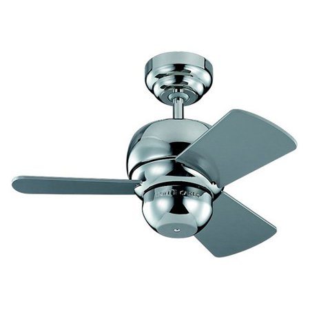 Monte Carlo 3TF24PN Micro 24 in. Indoor/Outdoor Ceiling Fan - Polished (Monte Carlo Ss On 24 Inch Irocs)