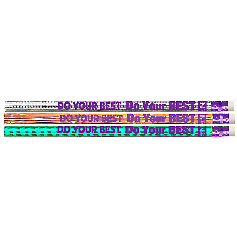DO YOUR BEST ON THE TEST 12PK MOTIVATIONAL FUN PENCILS