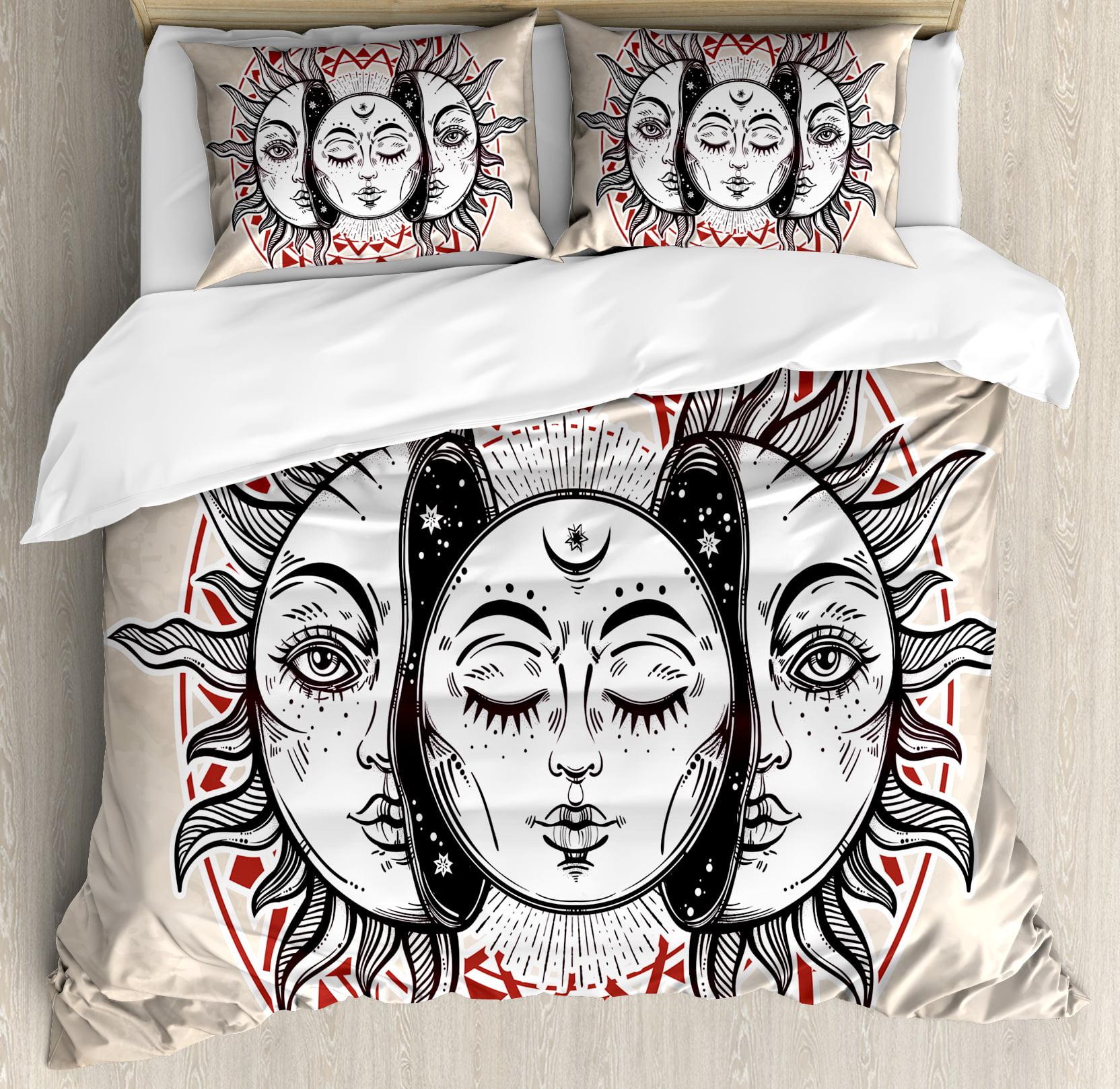 Moon King Size Duvet Cover Set, Oriental Eastern Culture ...