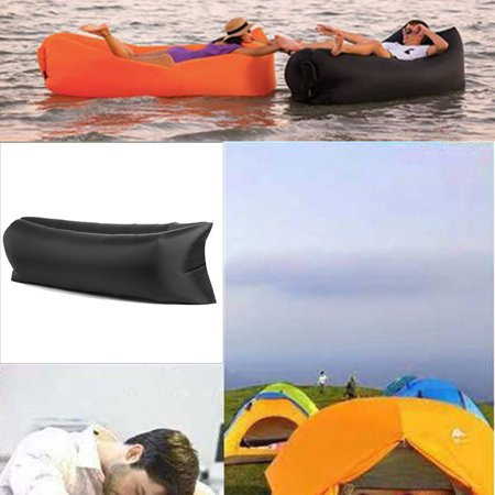 Camping Outdoor Beach Lazy Inflatable Bed Folding Inflatable Sofa Air Sofa - image 2 de 7