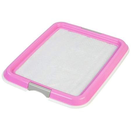 IRIS Small Pet Training Pad Holder, White and Pink (Dog Pee Pad Holder)