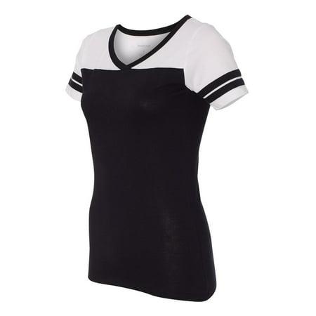 Boxercraft - Women's Powder Puff Black and White T-Shirt