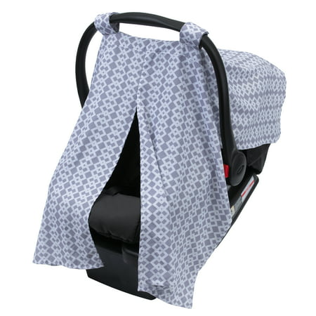 Little Love by NoJo On the Go Grey Geo Infant Carrier Canopy - Little Canvas Carrier