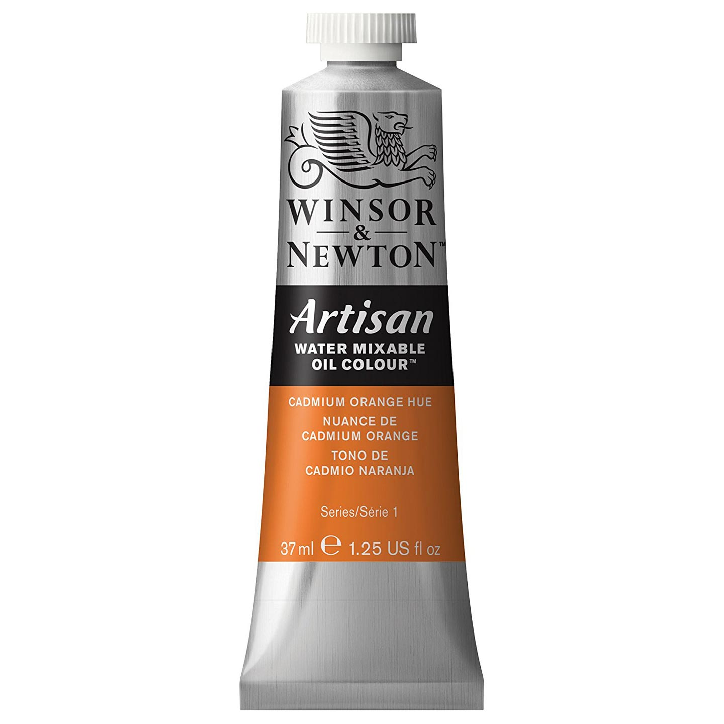 Winsor & Newton Oil Paint: Water Mixable, Cadmium Orange Hue, 37 mL