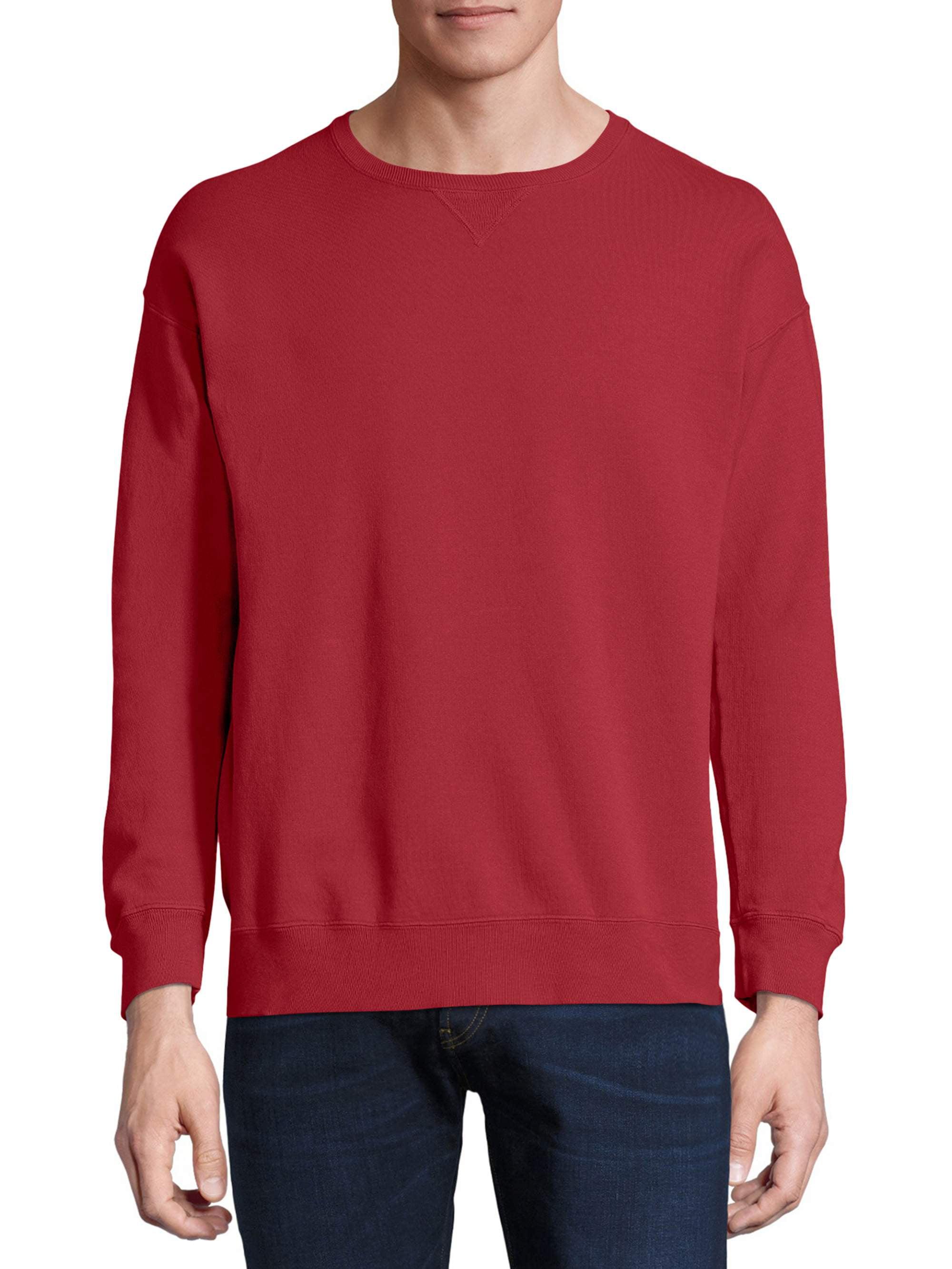 Hanes Mens Mens Comfortwash Garment Dyed Fleece Sweatshirt Sweatshirt