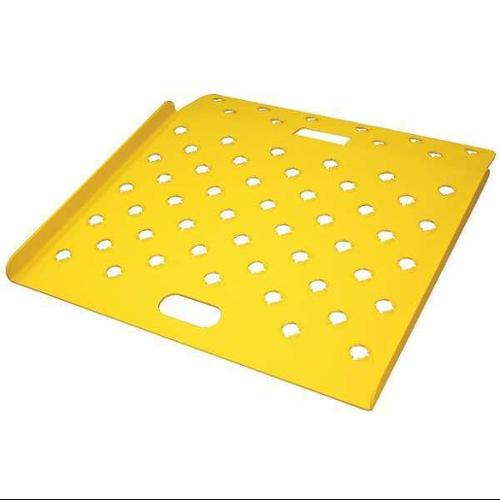 B & P MANUFACTURING CRP2618-SY Curb Ramp, Alum., Yellow, 26 In. W, 18 In. L