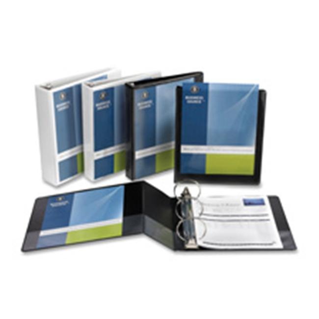 "Business Source Standard View Binders - 3"" Binder Capacity - Letter - 8 1/2"" x 11"" Sheet Size - 25 Sheet Capacity - 3 x Ring Fastener(s) - 1 Internal Pocket(s) - White - 1.50 lb - Recycled - 1 Each"