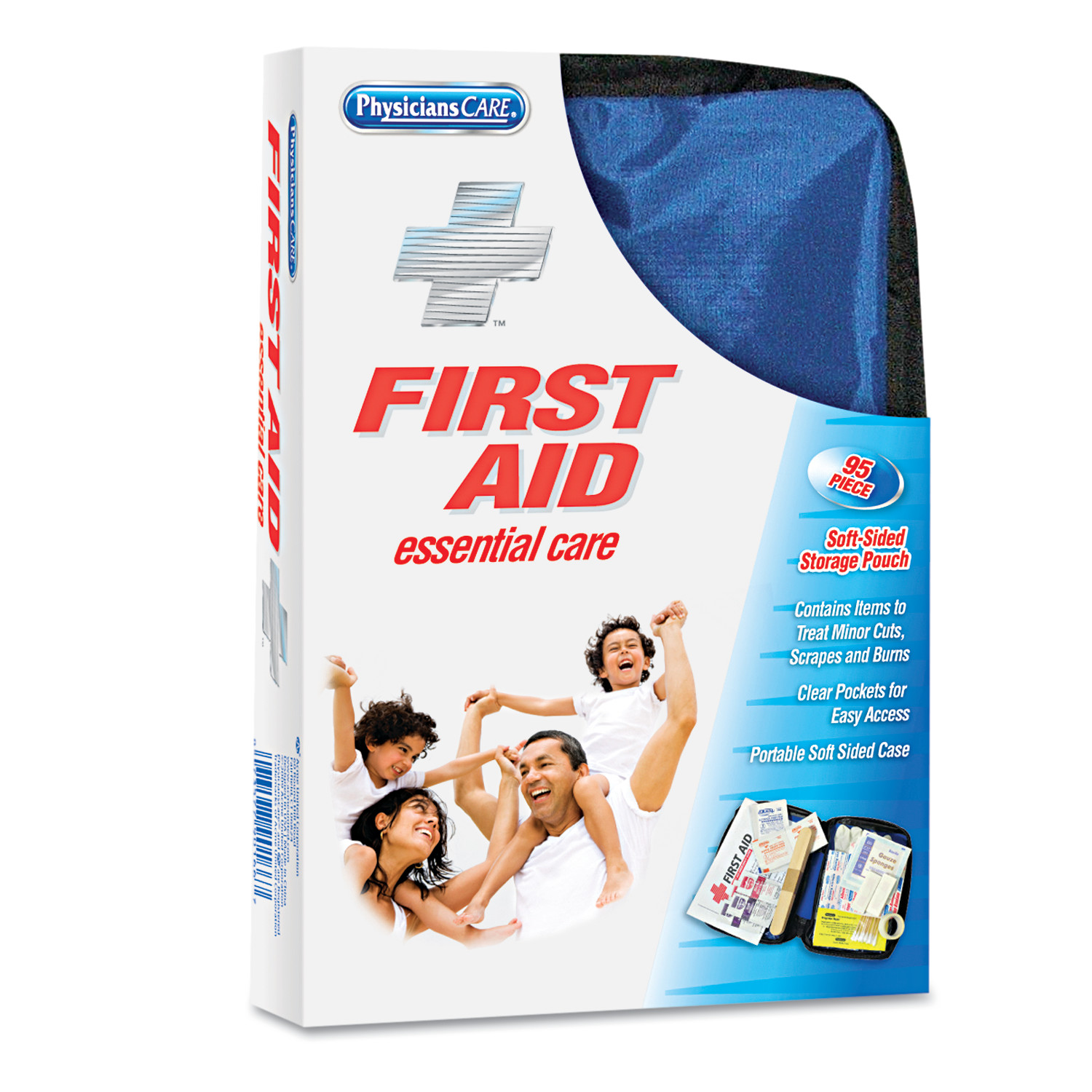 PhysiciansCare by First Aid Only Soft-Sided First Aid Kit for up to 10 People, 95 Pieces Kit by ACME UNITED CORPORATION