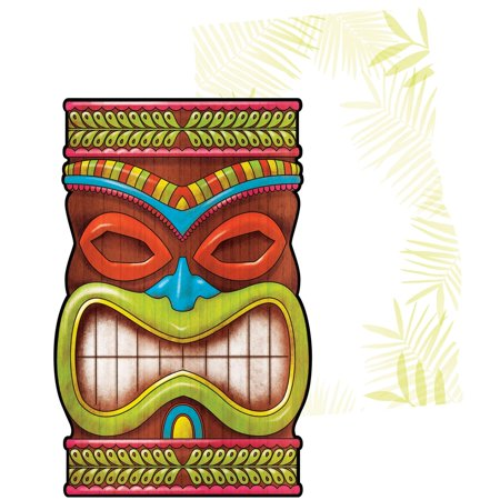 Brown Postcard - Pack of 75 Brown and Green Tiki Time Themed Invitation Post Card 9.75