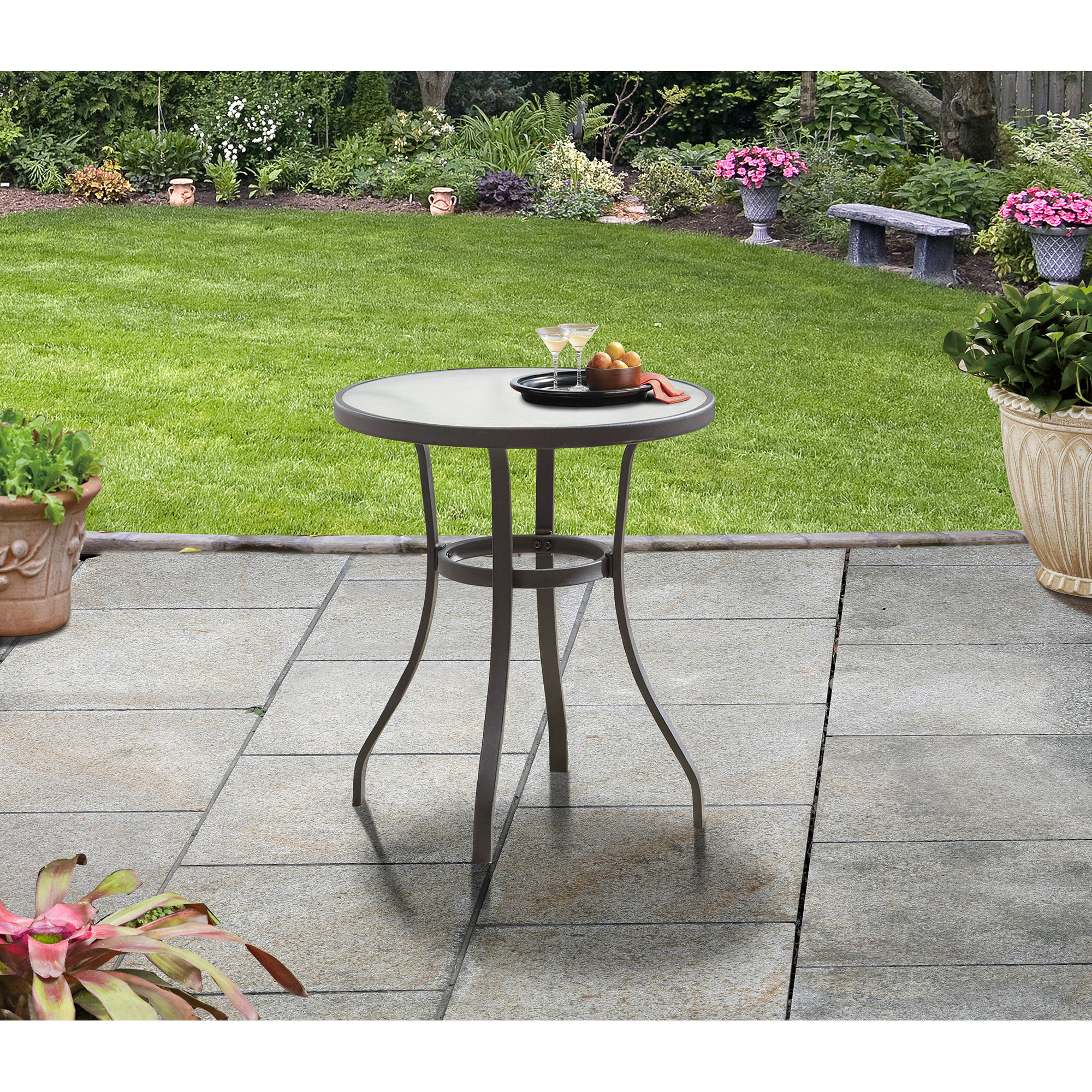 Mainstays Heritage Park Round Bistro Table, Brown