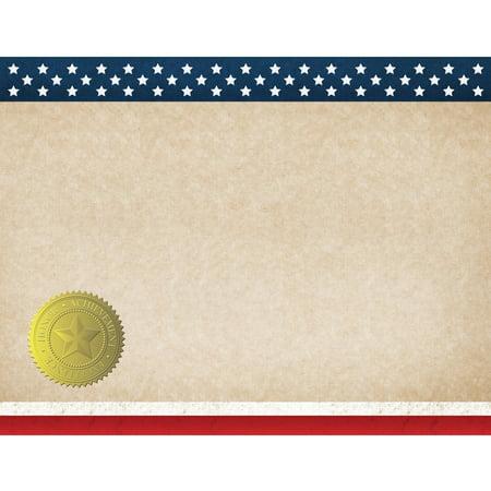 Patriotic Certificate, 25-Count - Walmart.com