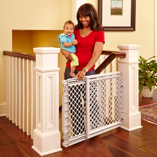 Genial North States Heavy Duty Stairway Baby Gate, ...