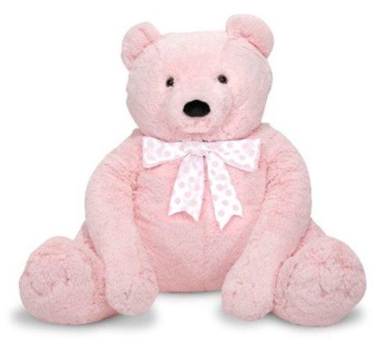 Melissa & Doug Jumbo Pink Teddy Bear Stuffed Animal, 2' tall by Melissa %26 Doug