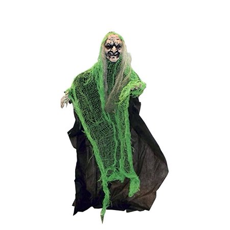 The Gothic Collection Posable Shrouded Witch Halloween Party Decor, 25 X 17.5 inches - Decor Halloween Party