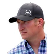 Cinch Western Hat Mens Baseball Cap Quilted Logo Black MCC0040001