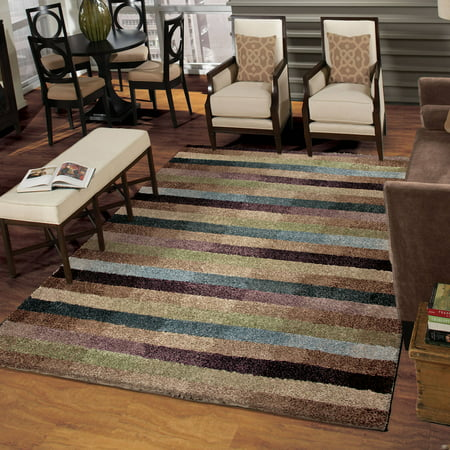Orian Rugs Plush Irving Multi Colored Colored Area Rug