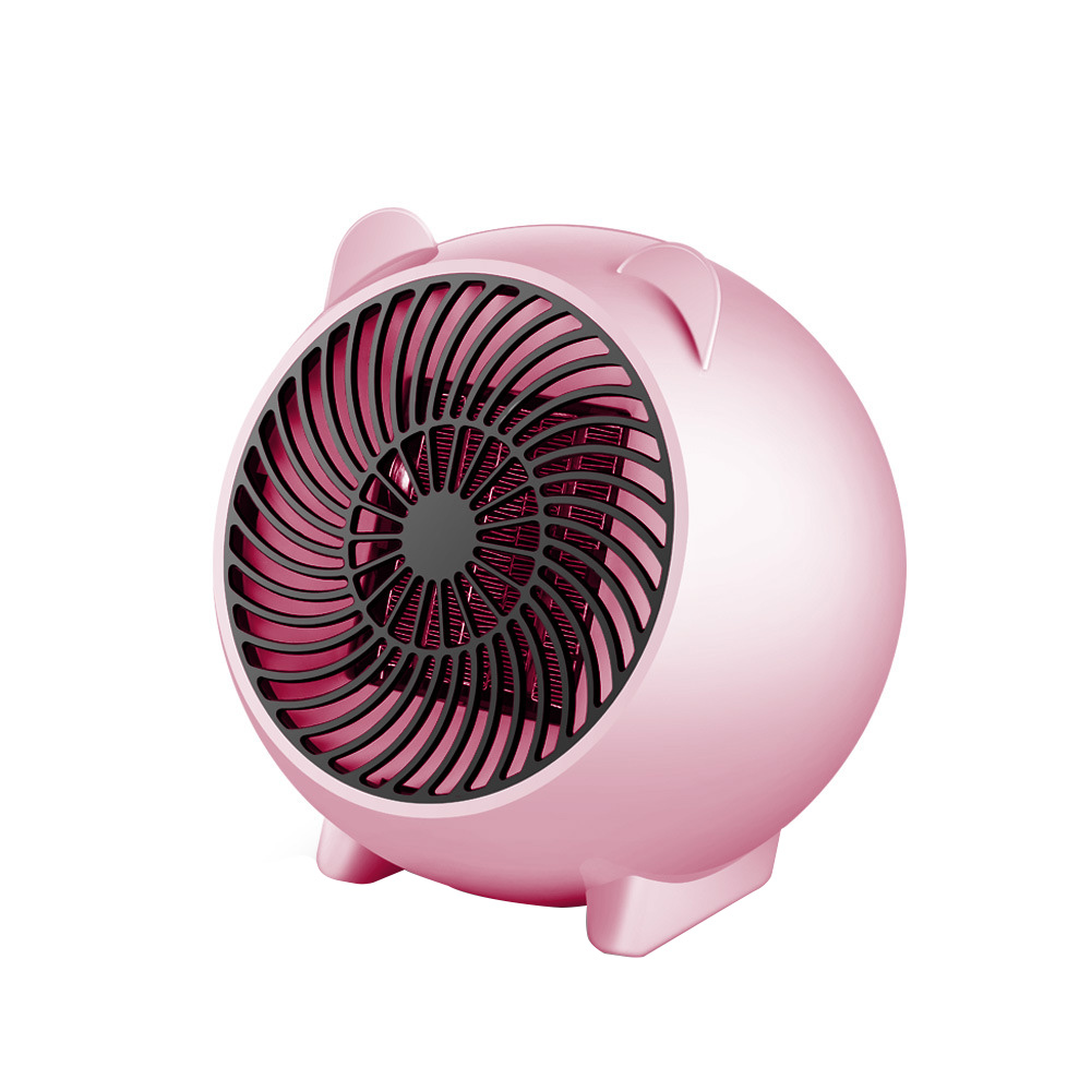 Mini 250W Space Heater Portable Winter Warmer Fan Personal Electric Heater for Home and Office Ceramic Small Heaters (Pink U S Plug)